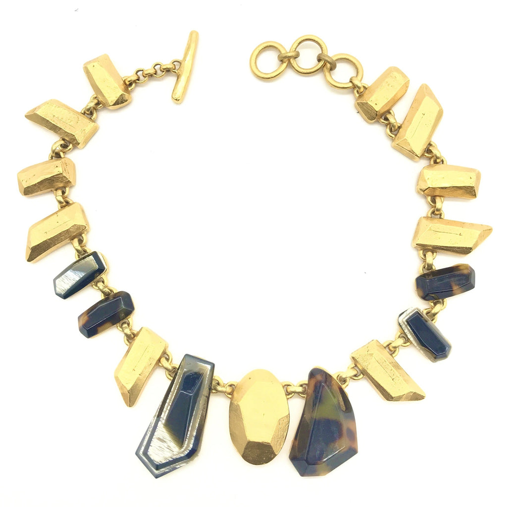 Christian Lacroix Stone and gold necklace