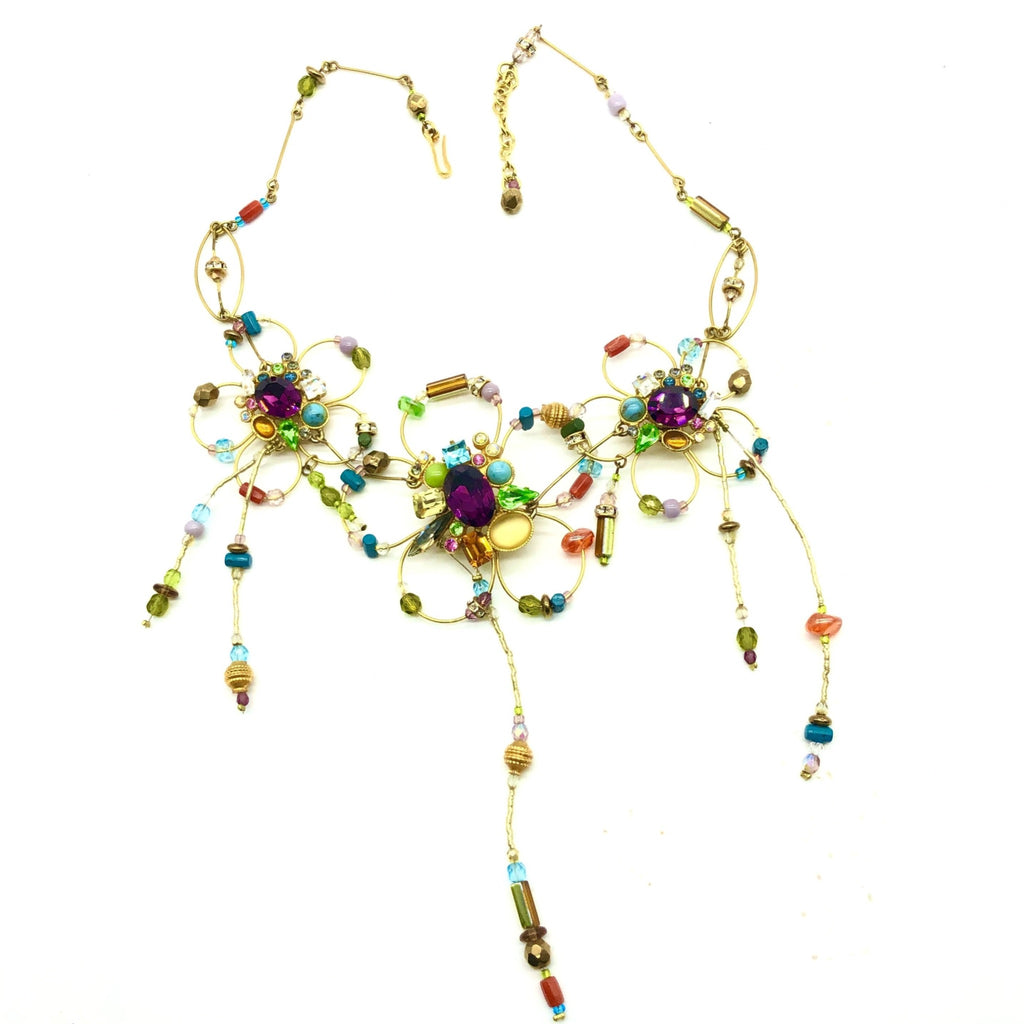 Lacroix necklace with flower beading