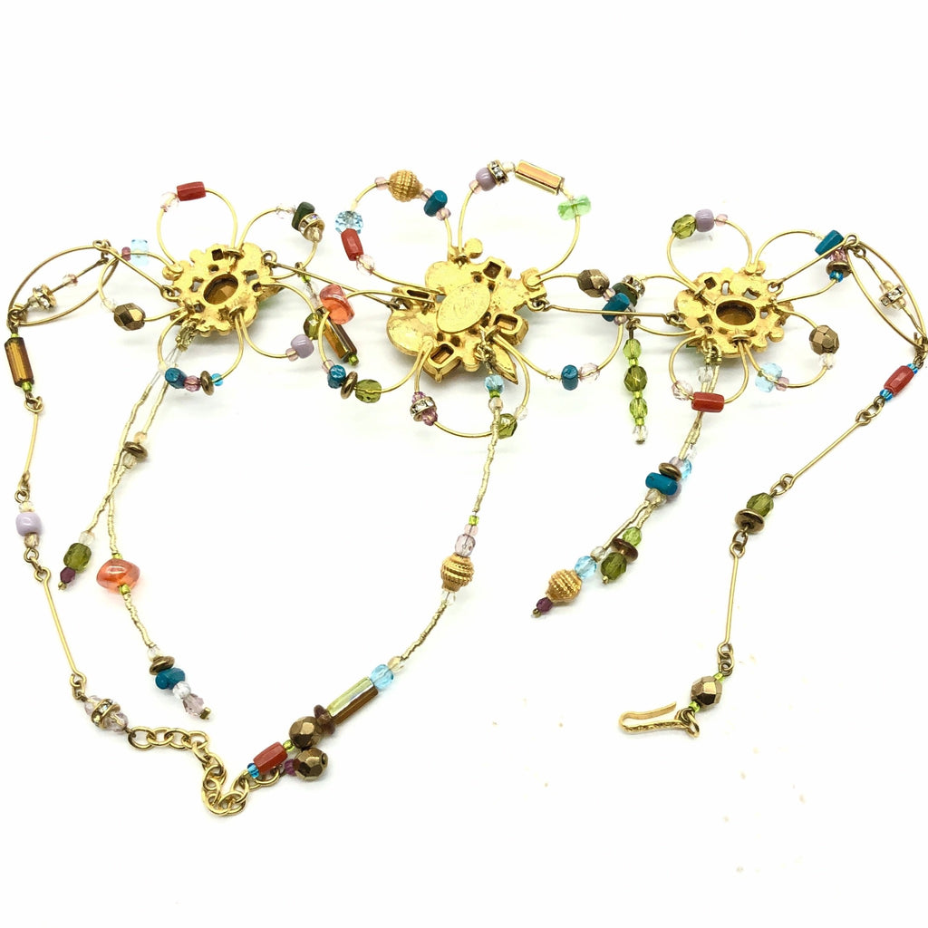 Christian Lacroix Necklace with Flower Beading