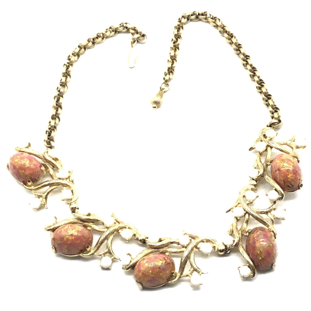 Schiaparelli art glass cabochons necklace