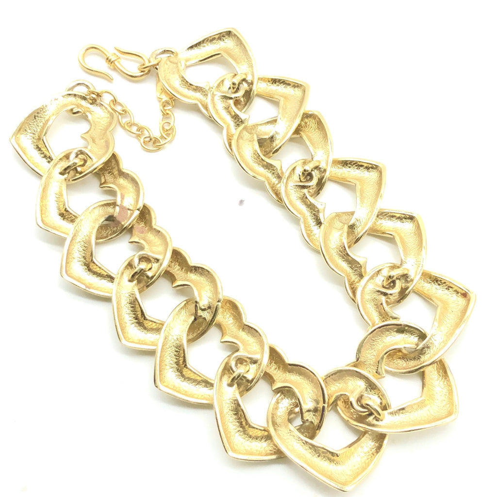 Vintage Yves Saint Laurent Hearts necklace