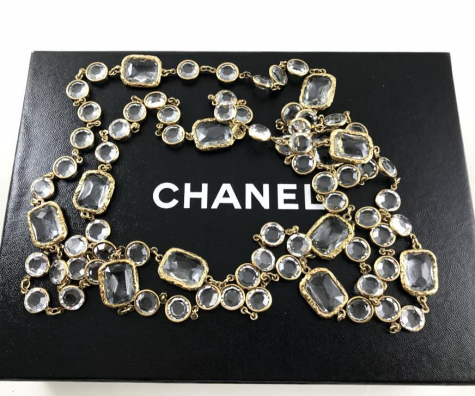 vintage chanel clear chicklet sautoir