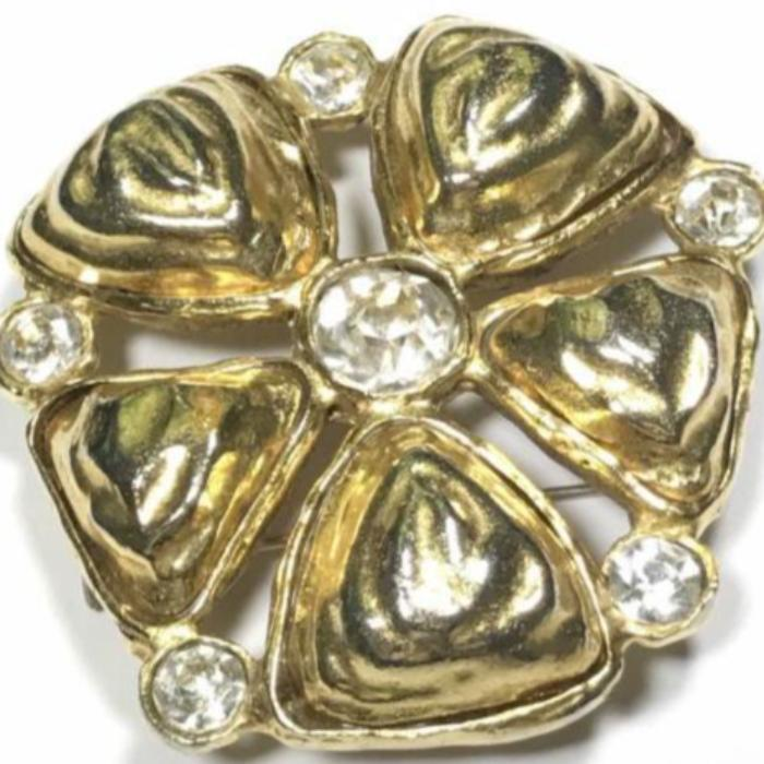 Vintage Chanel Brooch with rhinestones