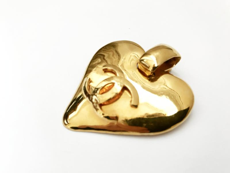 Vintage Chanel Heart Earrings
