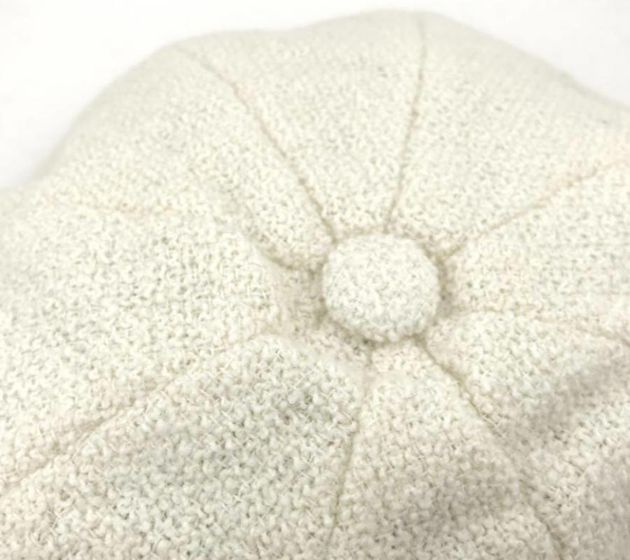 Chic Chanel Wool Baker Boy Hat