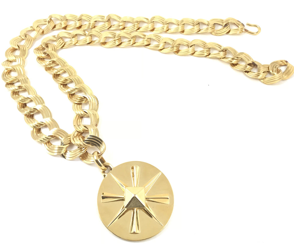 Chanel Bookpiece necklace with round pendant