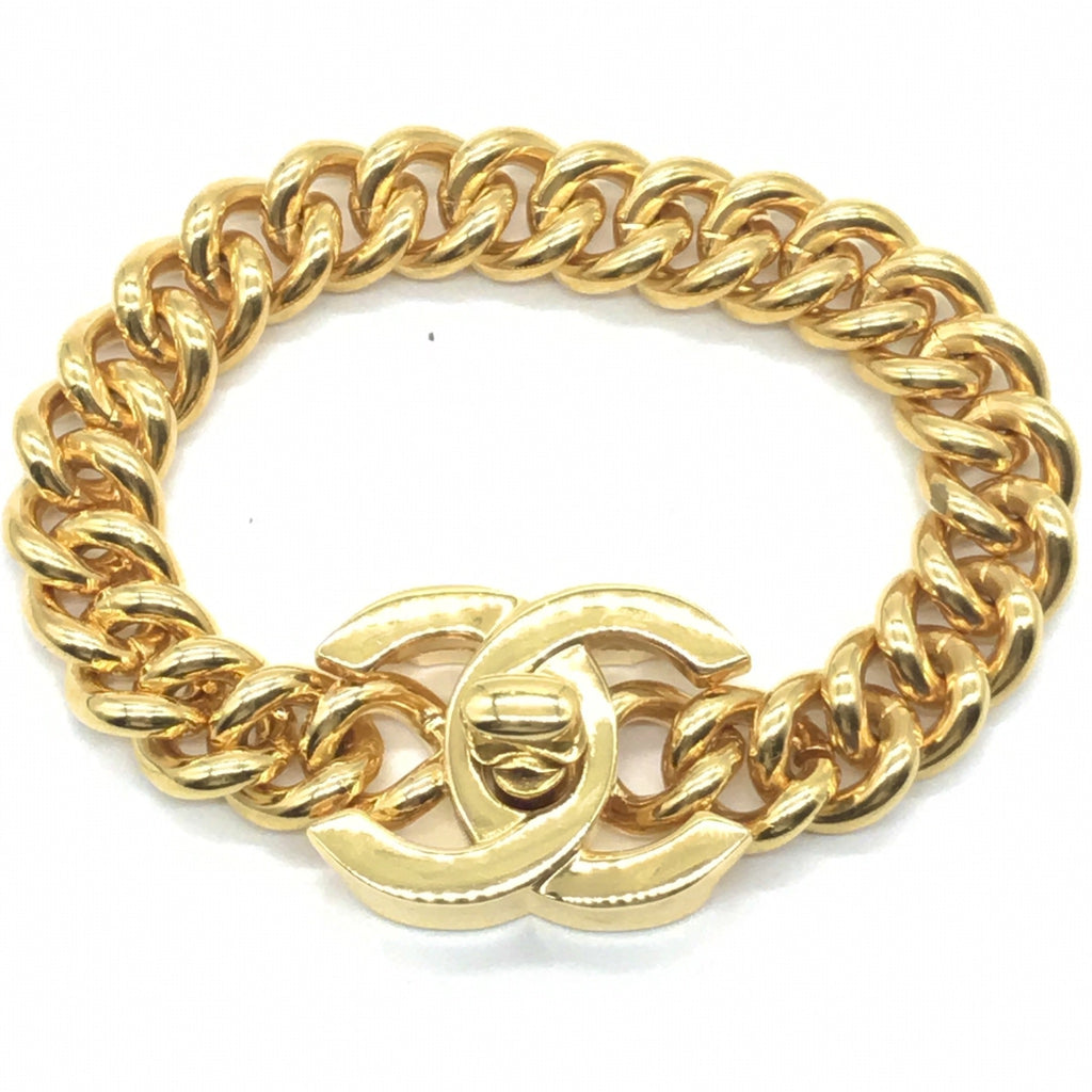 vintage chanel turnlock bracelet