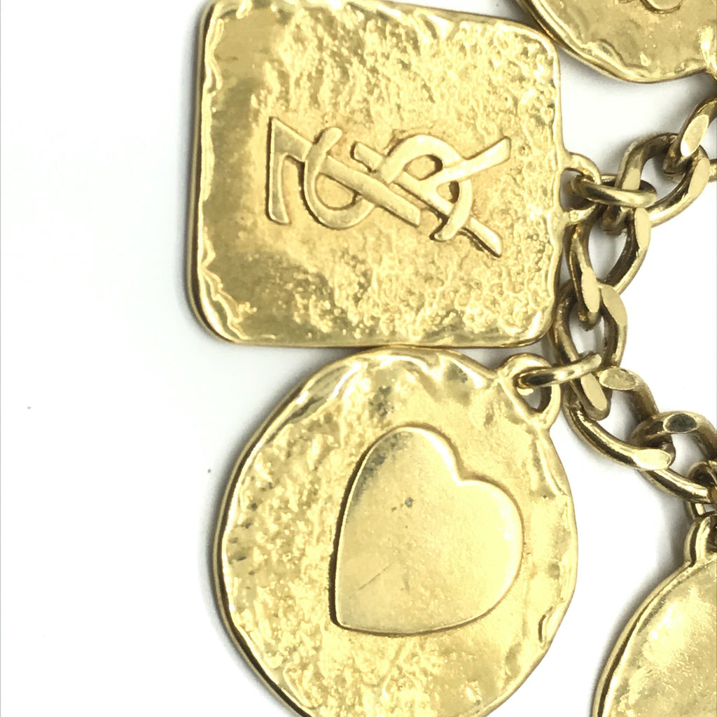 YSL Yves Saint Laurent Charm Necklace