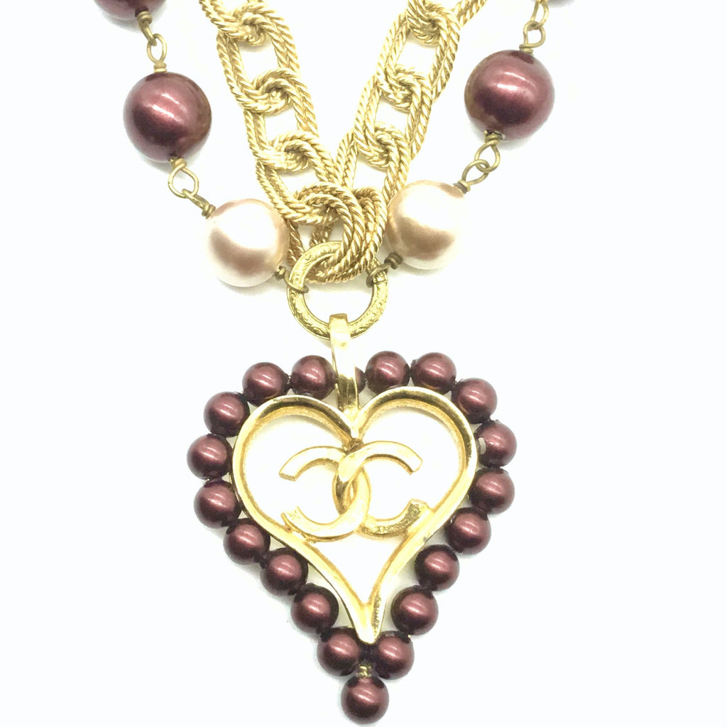 Chanel Necklace with Pearl Heart
