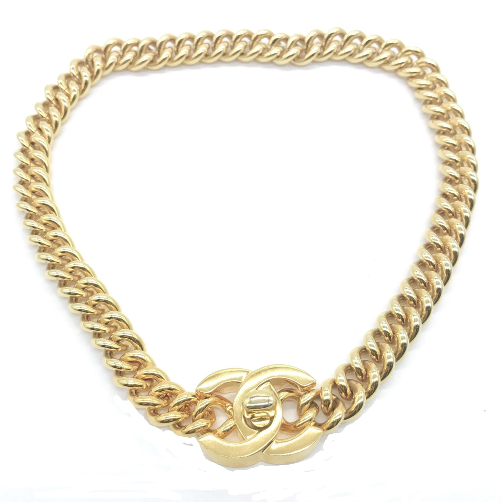 vintage chanel turnlock necklace