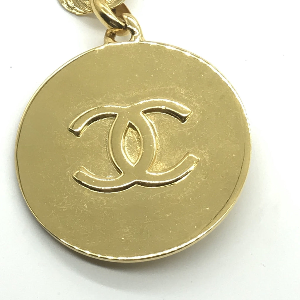 Rare Vintage Chanel Bookpiece Necklace with Round Pendant