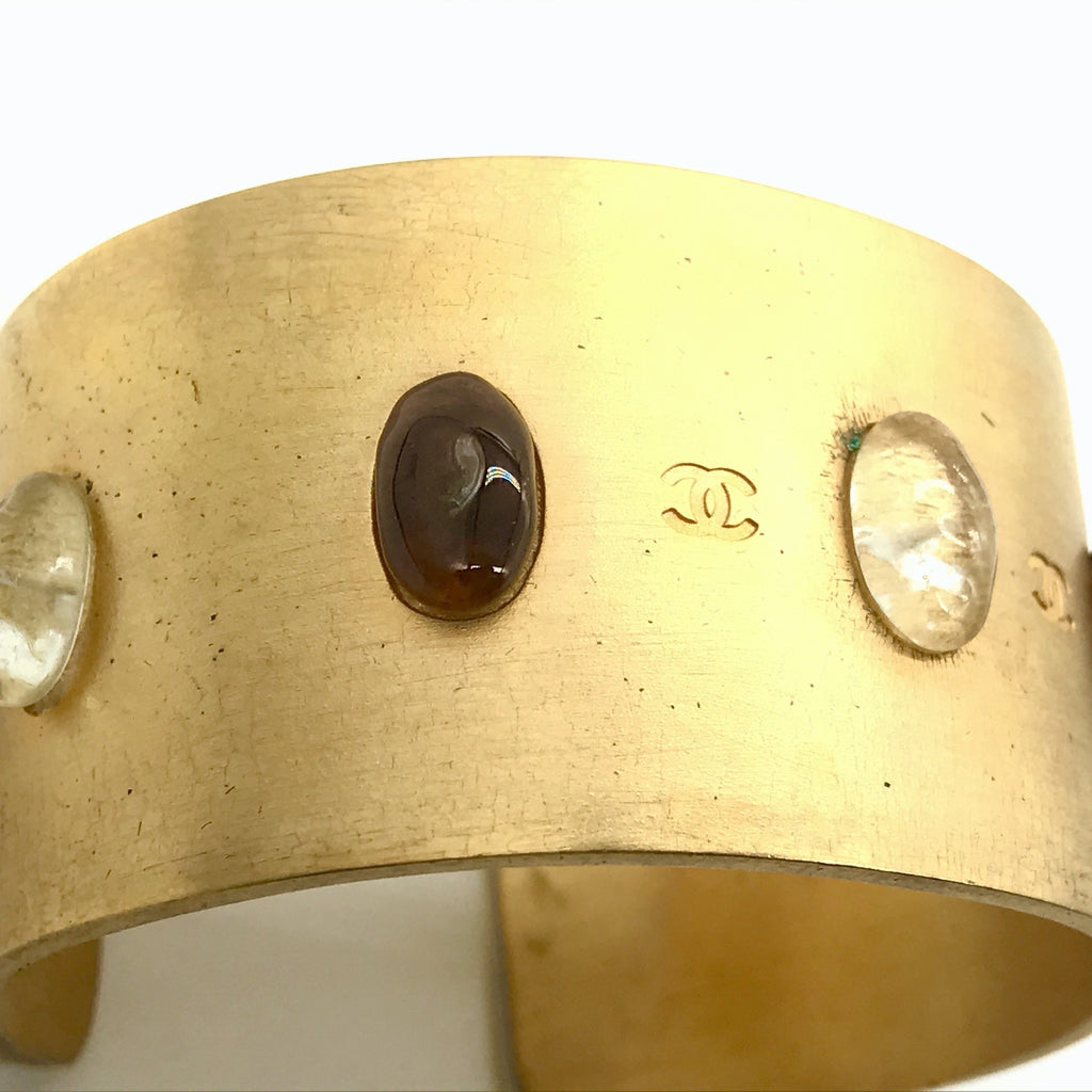 vintage chanel cuff with cabochons