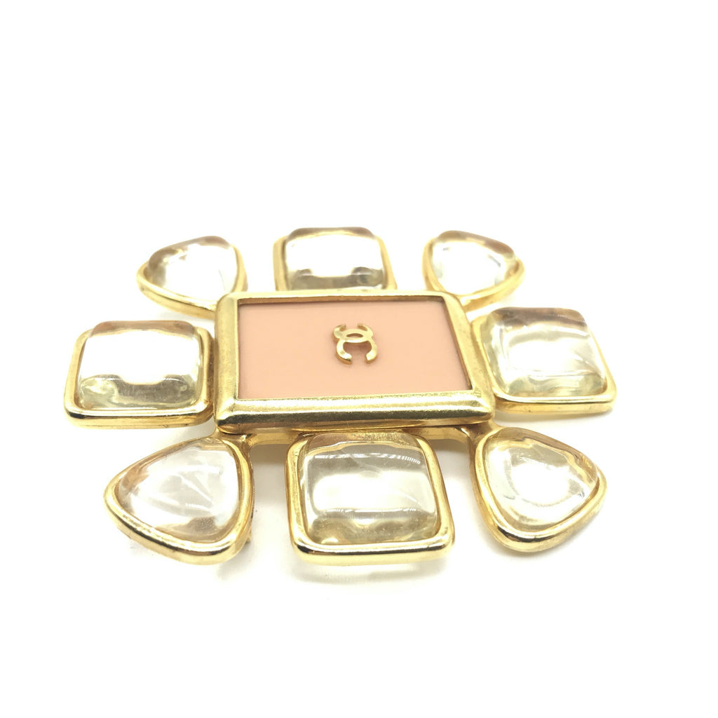 Chanel Pink Brooch with Lucite Petals