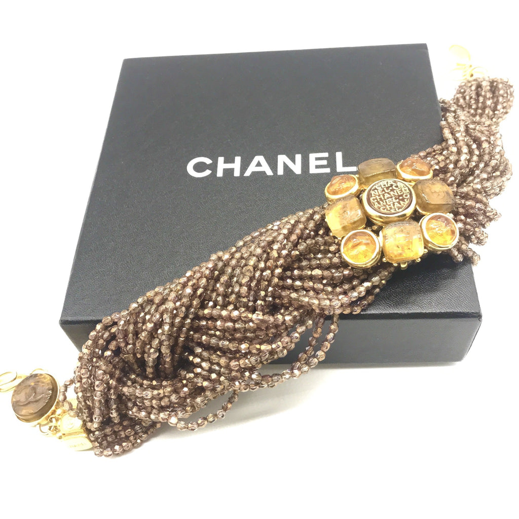 Vintage Chanel Faceted Bead Braided Necklace