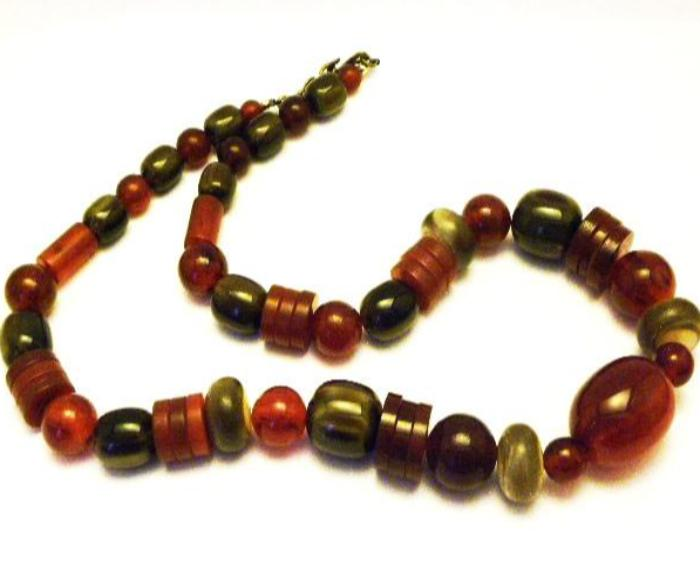vintage YSL amber and stone necklace 2