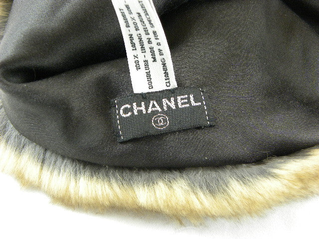 chanel fur hat label