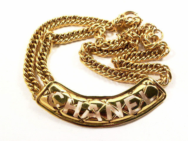 chanel necklace with CHANEL quilted cutout