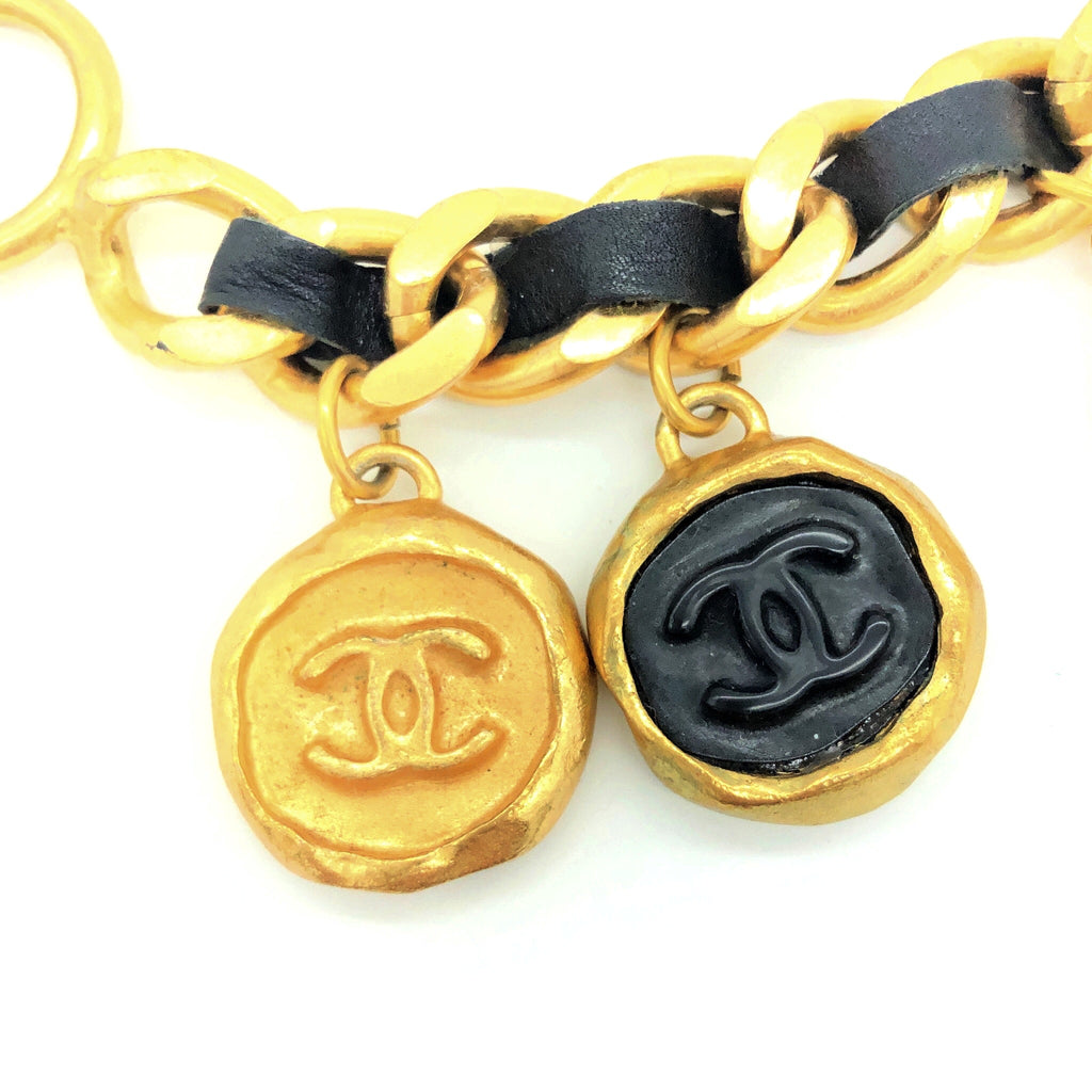 vintage chanel bracelet with coin charms