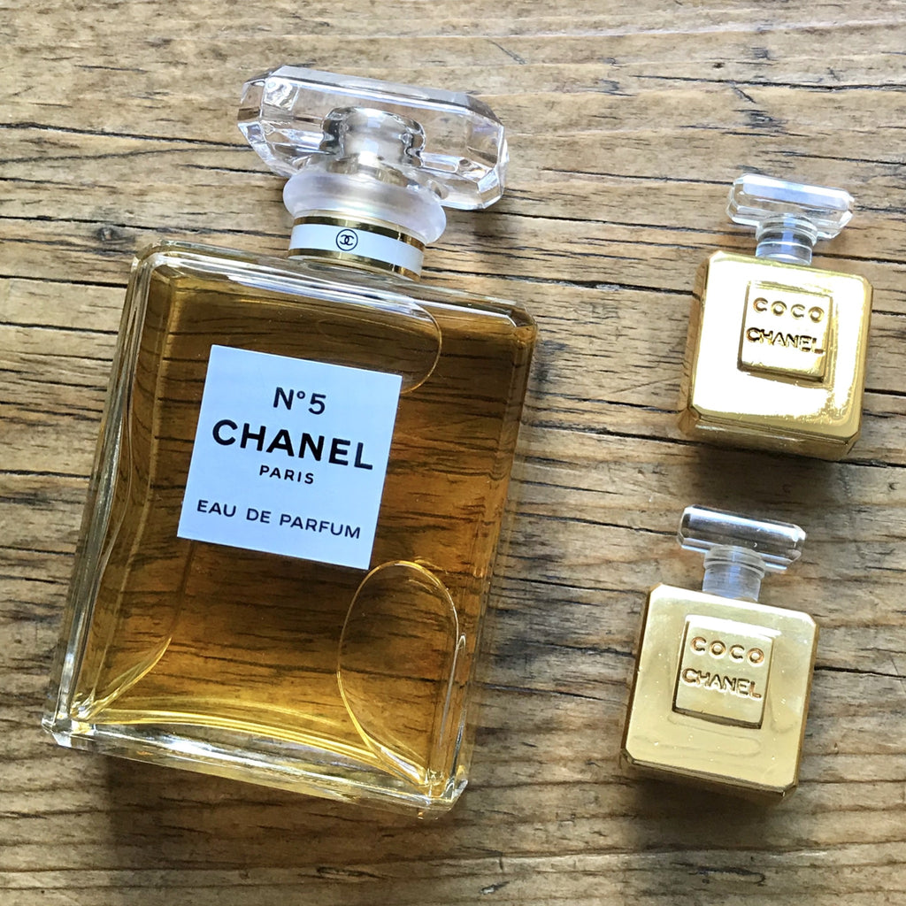 chanel perfume bottle earrings