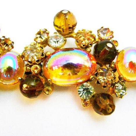 Schiaparelli Amber and Crystal Bracelet