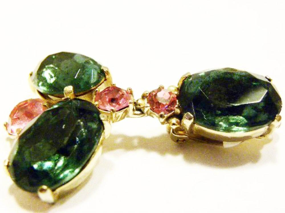Schiaparelli bracelet set in aquamarine side