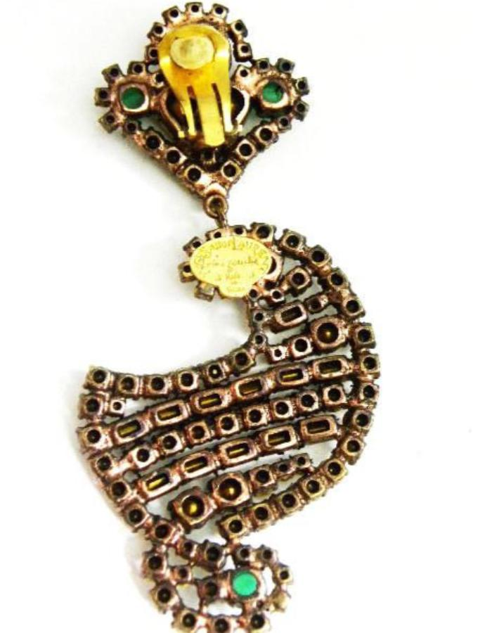 Yves Saint Laurent Kashmiri Design Earrings