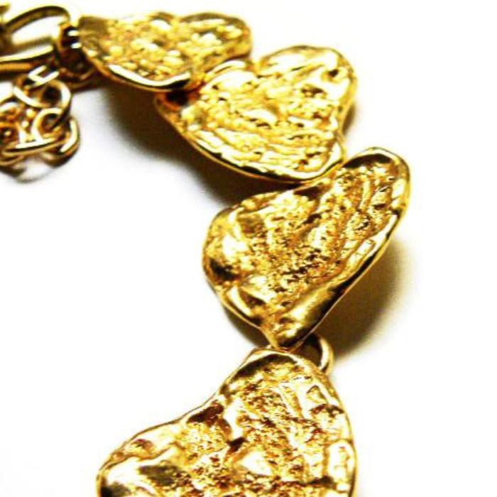 YSL necklace with textured hearts detail
