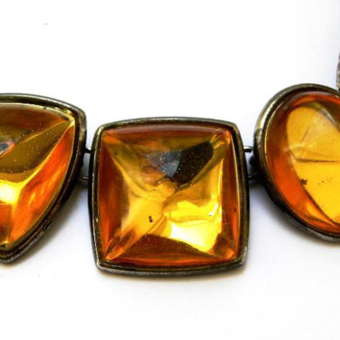 Yves Saint Laurent Necklace Set with Amber Stones