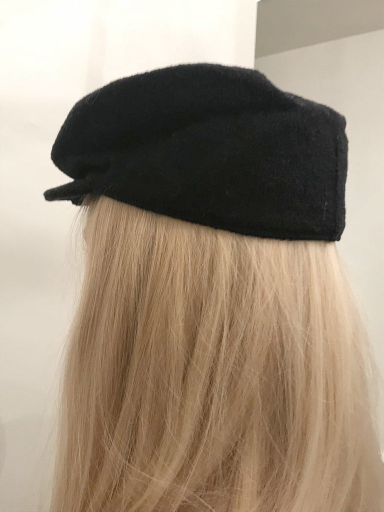 chanel baker boy hat back