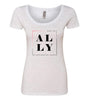 ALLY (Breast Cancer) Scooped Tee