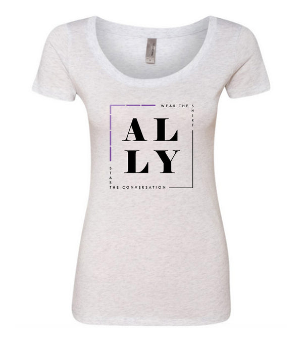 ALLY (Domestic Violence) Scooped Tee