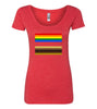 Flags of Equality Scooped Tee