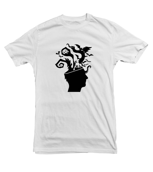 Haunted Mind TeeTees|Wearable Therapy|Tokii|Fashion|Women's Clothing|Men's Clothing|Stand Up|Speak Up|Mental Health|Awearness|Stop the Stigma