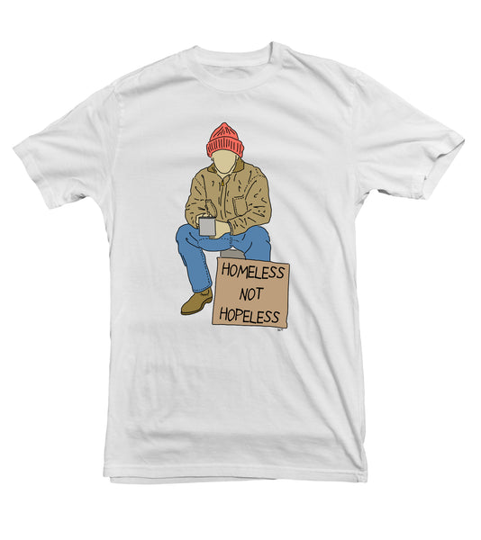 Homeless Not Hopeless TeeTees|Wearable Therapy|Tokii|Fashion|Women's Clothing|Men's Clothing|Stand Up|Speak Up|Mental Health|Awearness|Stop the Stigma
