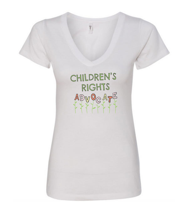 I Advocate For Children V Neck Tee