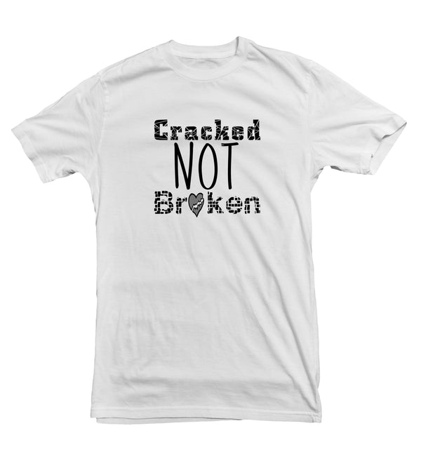 Cracked Not Broken Cotton Tee for Women - Support Survivors Collection