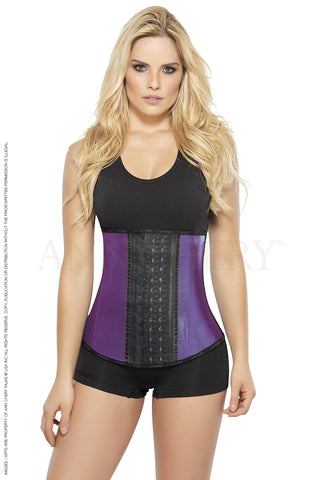 Ann Chery 2046 Metallic Edition Purple 3Hooks Women Latex Cincher Workout Waist Trainer