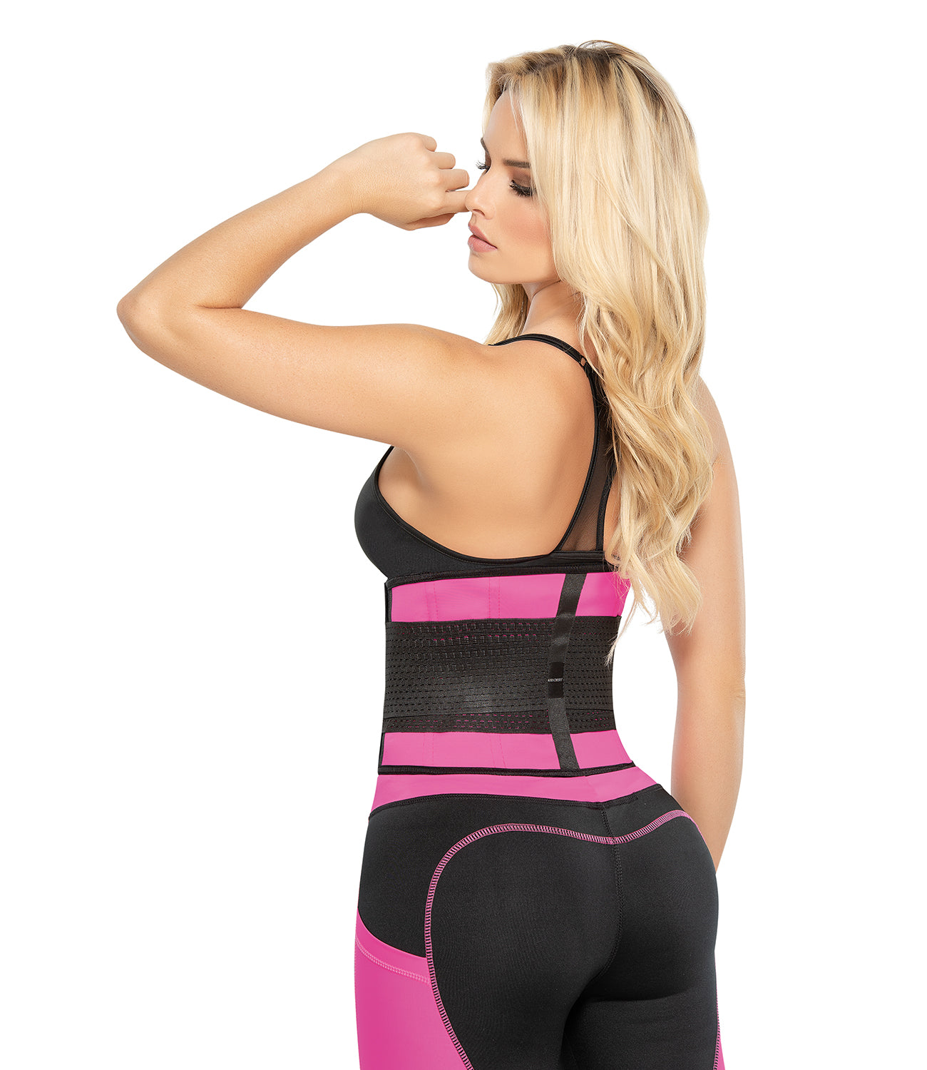 Ann Chery 2051 Latex Fit Pink Waist Trimmer Belt