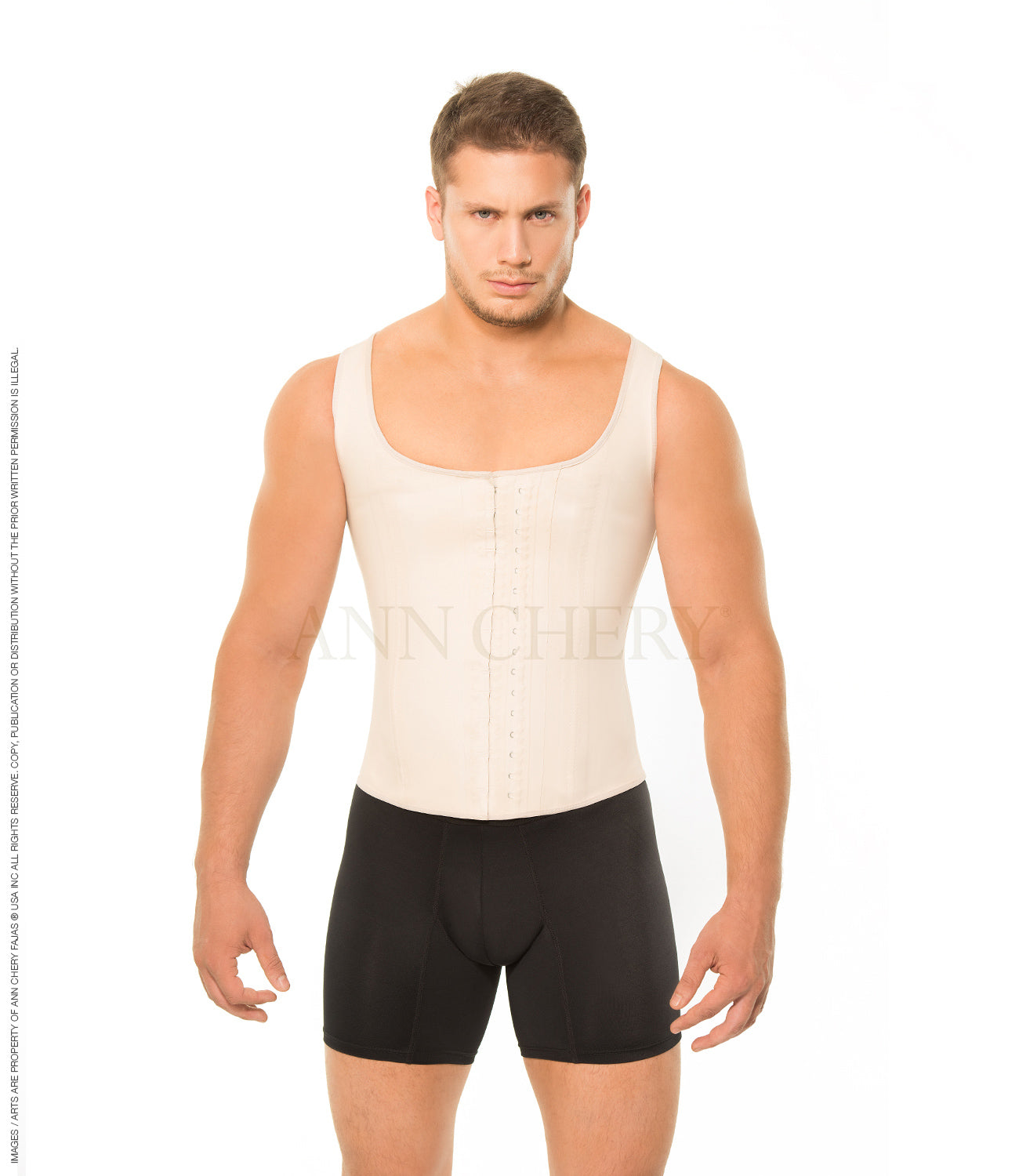 Ann Chery 2033 Chaleco Latex Fajas Para Hombre Men Girdle