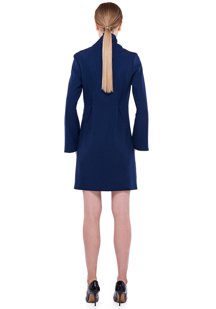 Dart dress in navy blue
