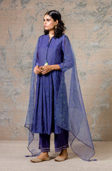 Ink Blue Chanderi Kurta Set