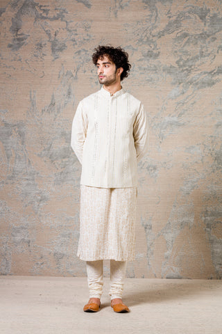 Ivory Kurta & Jacket Set
