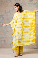 Yellow Tie-Dye Kaftan Set