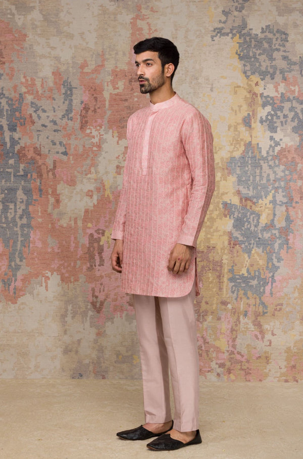 Rose Block Printed Short Kurta Set