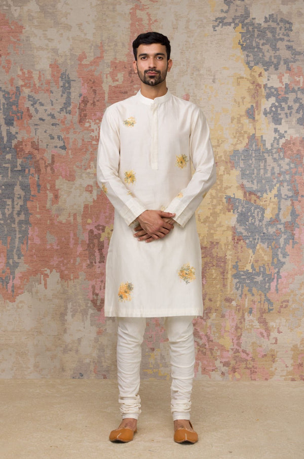 Ivory Handpainted Kurta Set