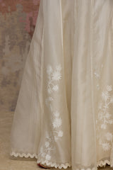 Ivory Organza Sharara Set