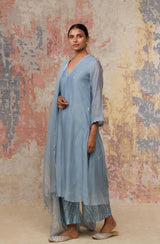 Ash Blue Kurta Set