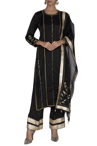 Black Kurta Set - devnaagri