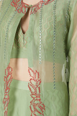 Green Moss Cotton Sharara Set