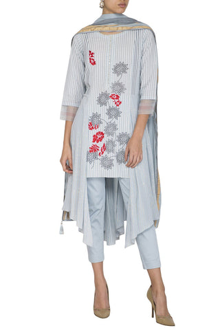 Grey Kurta with Pants - devnaagri